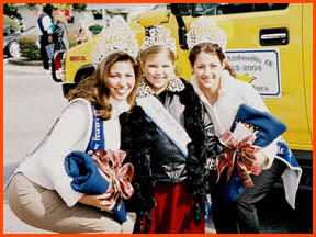 Miss Andouille 2003, Tiny Miss Andouille 2003, and Miss Teen Andouille 2003
